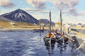 Ivan Sutton, Murrisk Pier, Croagh Patrick, Westport, Co Mayo at Morgan O'Driscoll Art Auctions