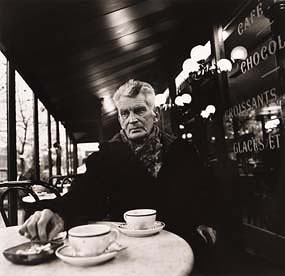 John Minihan, Samuel Beckett photographed in Paris Cafe on Boulevard St. Jacque, December 1985 at Morgan O'Driscoll Art Auctions