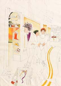 Pauline Bewick, Punks (1981) at Morgan O'Driscoll Art Auctions
