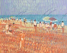 Desmond Carrick, Beach Fishing at Morgan O'Driscoll Art Auctions