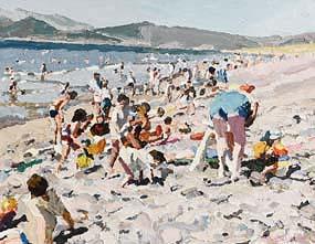 Stephen Cullen, Rossbeigh Beach, Kerry at Morgan O'Driscoll Art Auctions