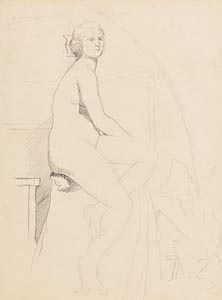 Mainie Jellet, Seated Nude at Morgan O'Driscoll Art Auctions