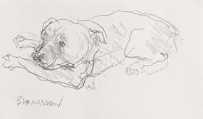 Basil Blackshaw, Staffordshire Terrier at Morgan O'Driscoll Art Auctions