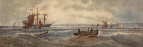 Thomas Bush Hardy, Returning to Port (1893) at Morgan O'Driscoll Art Auctions