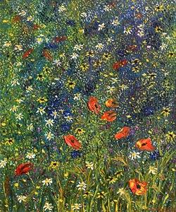Hazel Revington, Large Poppy Meadow at Morgan O'Driscoll Art Auctions