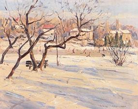 Robert Taylor Carson, Ice Rink at Morgan O'Driscoll Art Auctions