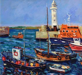 Kenlito, Dunahadee Harbour, Co Down at Morgan O'Driscoll Art Auctions