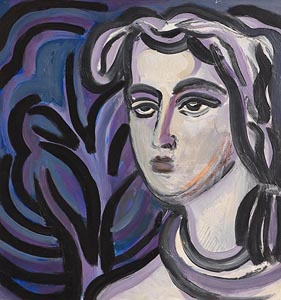 May Guinness, Portrait of a Woman at Morgan O'Driscoll Art Auctions