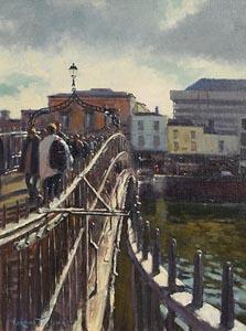 Norman Teeling, Ha'Penny Bridge at Morgan O'Driscoll Art Auctions