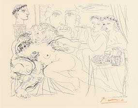 Pablo Picasso, Minotaure Caressant Une Femme (1952) at Morgan O'Driscoll Art Auctions