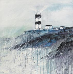 Paula McKinney, Rain Lashed Lighthouse at Morgan O'Driscoll Art Auctions
