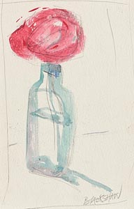 Still Life - Rose in a Bottle at Morgan O'Driscoll Art Auctions