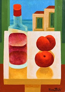 Graham Knuttel, Still Life - Bottle and Fruit at Morgan O'Driscoll Art Auctions
