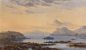 Albert Hartland, An Evening by the Shore - Irish Coastal Inlet at Morgan O'Driscoll Art Auctions