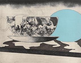 Michael Farrell, Storm in a Tea Cup (1977) at Morgan O'Driscoll Art Auctions