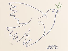 Pablo Picasso, Blue Dove of Peace (1983-4) at Morgan O'Driscoll Art Auctions