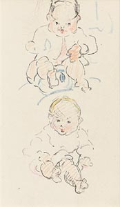 Mary Swanzy, Two Babies (c.1905) at Morgan O'Driscoll Art Auctions