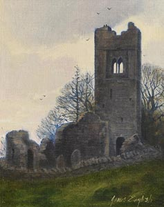 James English, Evening Light, Slane (1980) at Morgan O'Driscoll Art Auctions