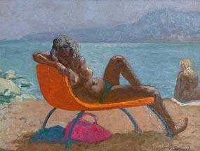Patrick Leonard, Nude Sunbathing at Morgan O'Driscoll Art Auctions