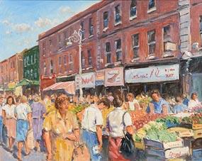 Fergal Flanagan, Moore Street Market, Dublin at Morgan O'Driscoll Art Auctions