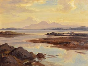 Frank McKelvey, Mourne Mountains From Near Portaferry at Morgan O'Driscoll Art Auctions