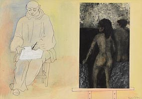 Gerard Dillon, The Bathers and Self Portrait at Morgan O'Driscoll Art Auctions