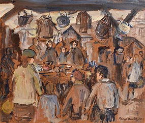 Gladys MacCabe, Market Day, Galway at Morgan O'Driscoll Art Auctions