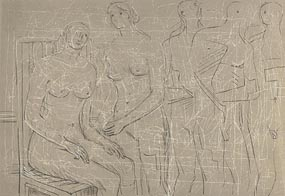 Henry Moore, Figures (Cramer 341) at Morgan O'Driscoll Art Auctions