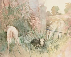 Terence P. Flanagan, Entrance to the Estate (1987) at Morgan O'Driscoll Art Auctions