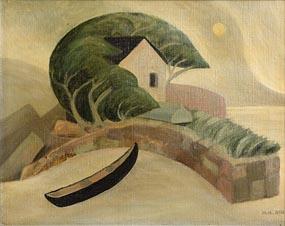 Medora Heather Bent, The Boathouse Errislannan, Connemara at Morgan O'Driscoll Art Auctions