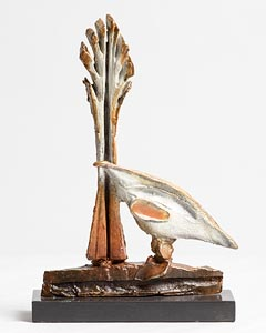 Leo Higgins, Bird and Tree at Morgan O'Driscoll Art Auctions