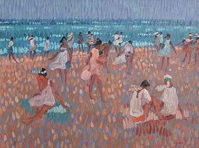 Desmond Carrick, Day at the Beach at Morgan O'Driscoll Art Auctions