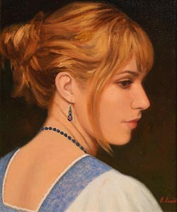 James Cahill, Girl With Lapis Necklace at Morgan O'Driscoll Art Auctions