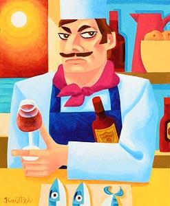 Graham Knuttel, Chef in Moonlight at Morgan O'Driscoll Art Auctions