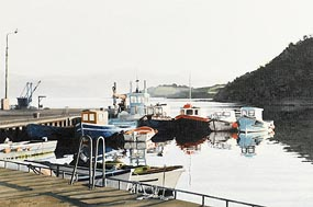 John Murphy, Fishing Boats at Sunrise (2005) at Morgan O'Driscoll Art Auctions