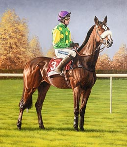 John Moore, Ruby Walsh On Kauto Star at Downroyal, November 2010 at Morgan O'Driscoll Art Auctions