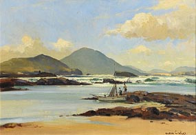 Maurice Canning Wilks, Landing the Catch, West of Ireland at Morgan O'Driscoll Art Auctions