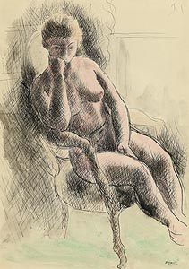 Daniel O'Neill, Seated Nude at Morgan O'Driscoll Art Auctions
