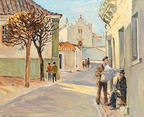 Robert Taylor Carson, Street Scene, Albufeira Algarve (1973) at Morgan O'Driscoll Art Auctions