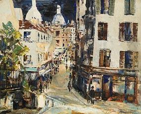 Fergus O'Ryan, Rue Novens, Notre Dame, Paris at Morgan O'Driscoll Art Auctions