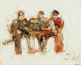 John Brian Vallely, Trio of Trad Musicians at Morgan O'Driscoll Art Auctions