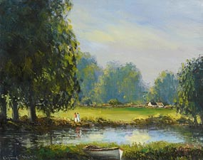 Norman J. McCaig, The River Bawn at Achadooey at Morgan O'Driscoll Art Auctions