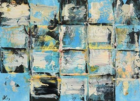 John Kingerlee, Blue Grid Outdoor (2003) at Morgan O'Driscoll Art Auctions