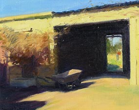 Thomas Ryan, The Yellow Shed (1981) at Morgan O'Driscoll Art Auctions