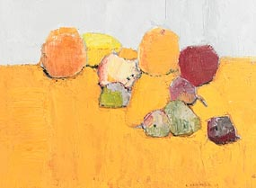 Alexi Krasnovski, Still Life with Fruits and Sand (1999) at Morgan O'Driscoll Art Auctions