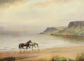 Charles J. McAuley, A Run on the Beach at Morgan O'Driscoll Art Auctions