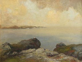 George William Russell, Little Grebe on the Rock at Morgan O'Driscoll Art Auctions