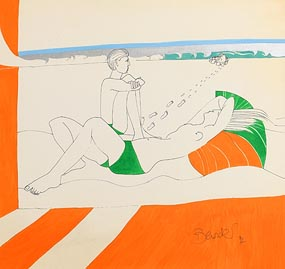 Pauline Bewick, Footsteps (1974) at Morgan O'Driscoll Art Auctions