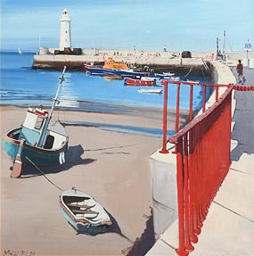 Cecil Maguire, Low Tide Donaghadee, Co Down (1990) at Morgan O'Driscoll Art Auctions