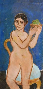 Stella Steyn, Figure with a Basket of Apples (1953) at Morgan O'Driscoll Art Auctions
